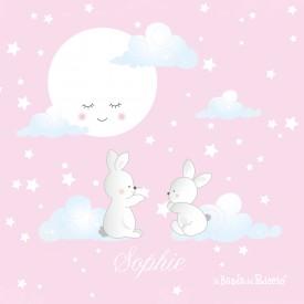 esempio di Kit moonlinght, immagini di nuvole sognanti su sfondo rosa.