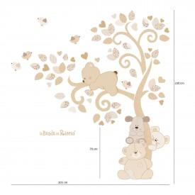 Misure dell'adesivo murale. Altezza dell'albero da terra 2,20 m