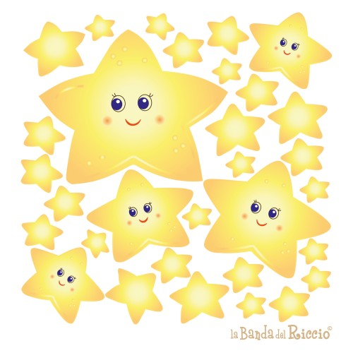 "Kit di Stickers per bambini ""Stelle Fluorescenti""."