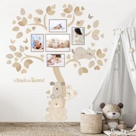 Esempio dell'adesivo murale albero photo art. Variante beige.