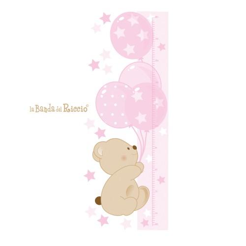 """Metro altezza bambini """"Bear Balloons"""" -colore rosa-"""