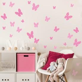 "Wall stickers bambini ""Le Farfalle"" -foto ambientata n. 1-"