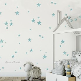 "Stickers cameretta ""le Stelle"" pattern -foto ambientata n. 1-"