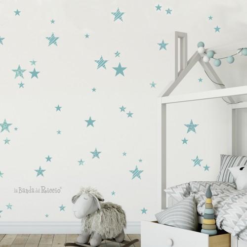 Adesivi di stelline per decorare un'intera parete.