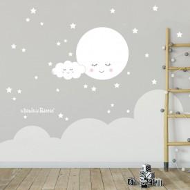 """Stickers murali bambini """"La Luna Sognante"""" -foto ambientata n. 1-"""