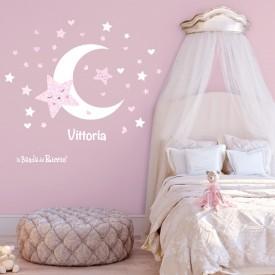 "Adesivi murali bambini ""Stelle e Luna"" -foto ambientata n.2-"