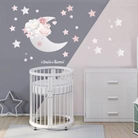 """Adesivi murali bambini """"La Luna Rosa"""" -foto ambientata- n. 1-"""