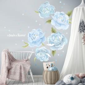 Light Blue Peonies