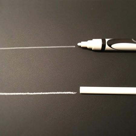 Sull'inserto lavagna puoi scrivere con un pennarello a getto di gesso o con un gessetto