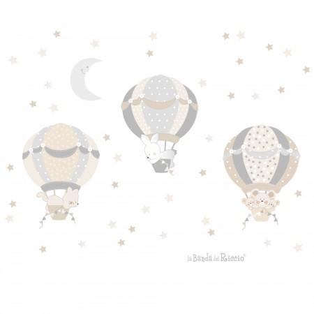 Le mongolfiere 4 colore grigio beige