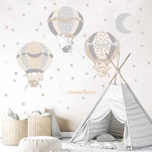 Le mongolfiere 4 colore grigio beige foto ambientata