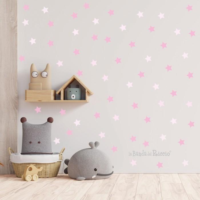 stelle bicolore rosa, foto ambientata