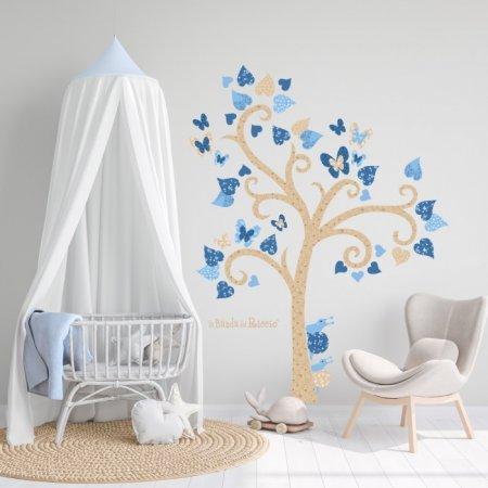 """Stickers """"Albero Farfalle"""". Adesivo murale con farfalle sui rami di un albero"""