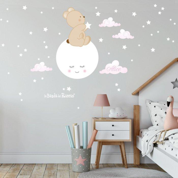 """Adesivo murale """"Esprimi un desiderio"""" applicato alla parete"""