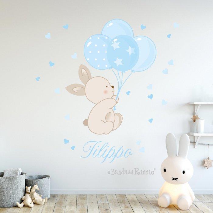 Immagine dell'adesivo murale bunny balloons