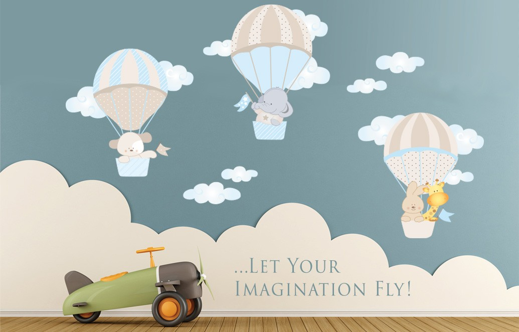 wall stickers air balloons
